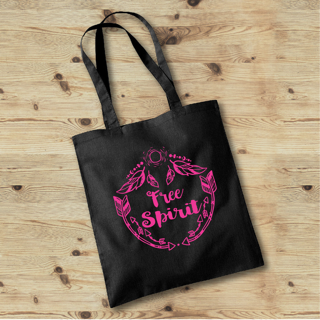 Free Spirit Bag, Hippie Tote Bag, Wild and Free Boho Tote Bag - Rebels and Roses Boutique