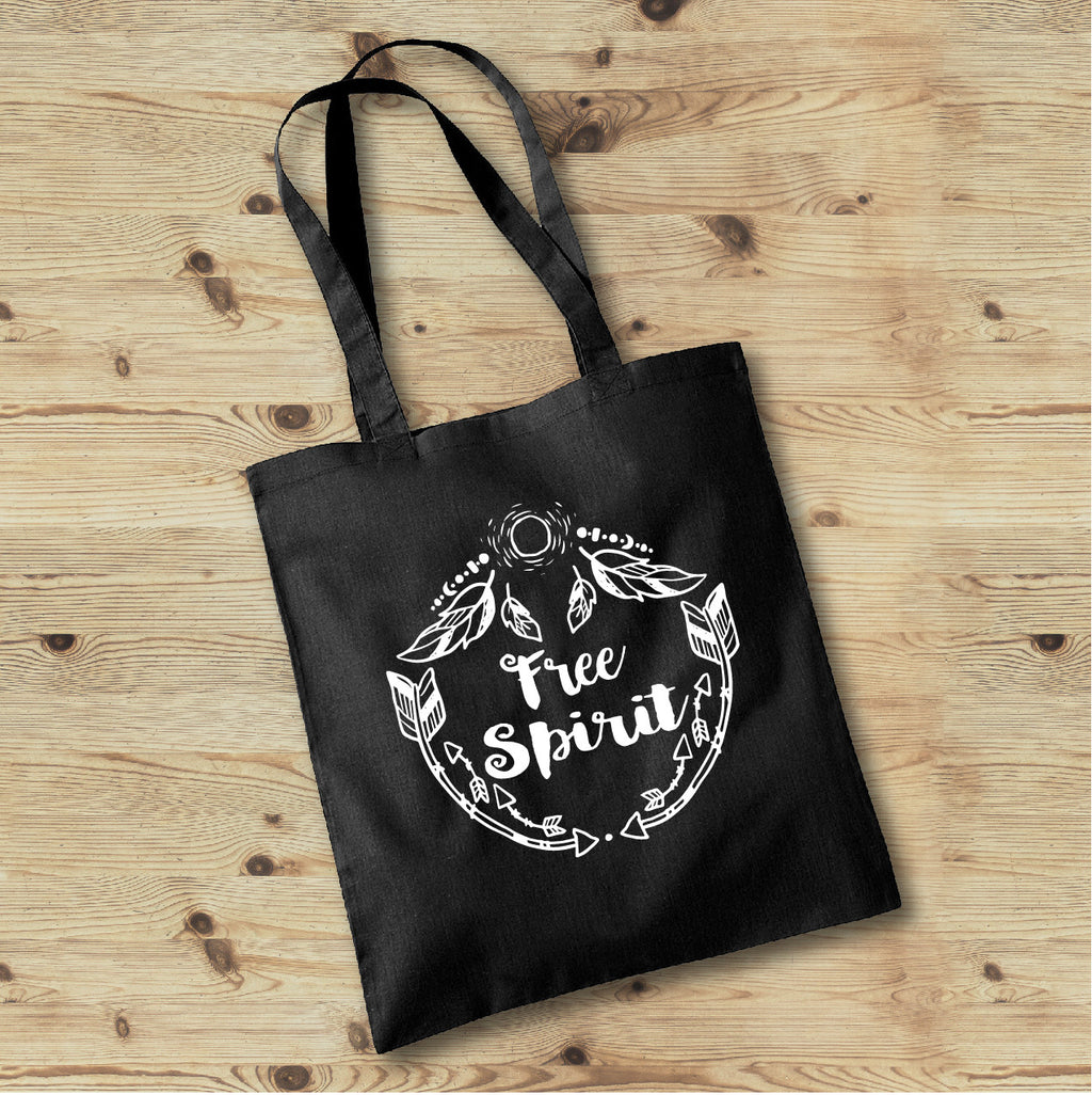 Free Spirit Bag, Hippie Tote Bag, Wild and Free Boho Tote Bag - Gypsy Junk Clothing Trunk