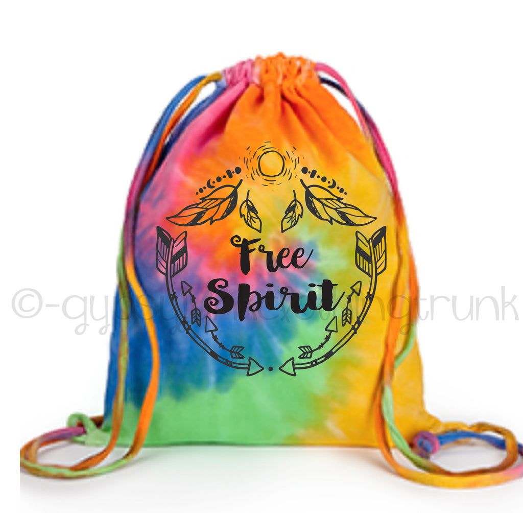 Free Spirit Tie Dye Tote Bag - Boho Tote Bag - Eternity - Rebels and Roses Boutique