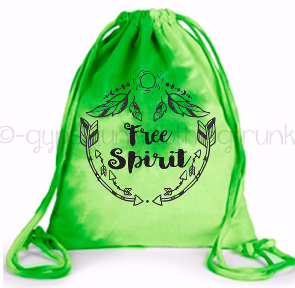 Free Spirit Tote Bag - Lime Green Swirl
