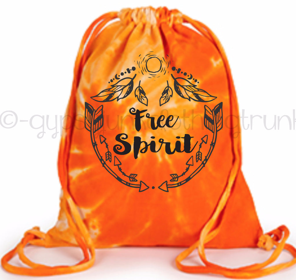Free Spirit Tie Dye Tote Bag - Boho Tote Bag - Orange Swirl - Rebels and Roses Boutique