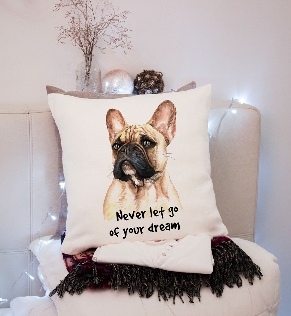 French Bulldog - Dog Breed Pillow - Frenchie Pillow - Pet Decor - Rebels and Roses Boutique
