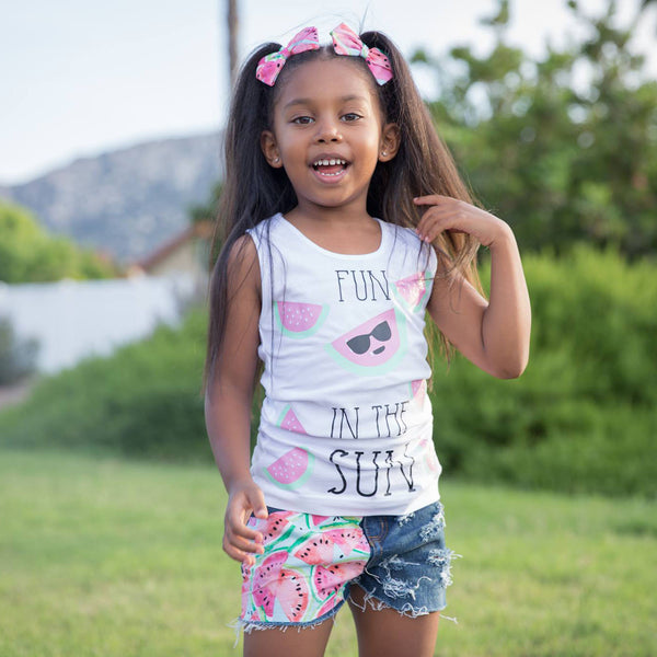Fun in the Sun - Watermelon Shirt - Foodie Tops for Kids - Rebels and Roses Boutique