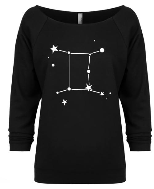 Gemini Zodiac Slouchy Shirt - Rebels and Roses Boutique