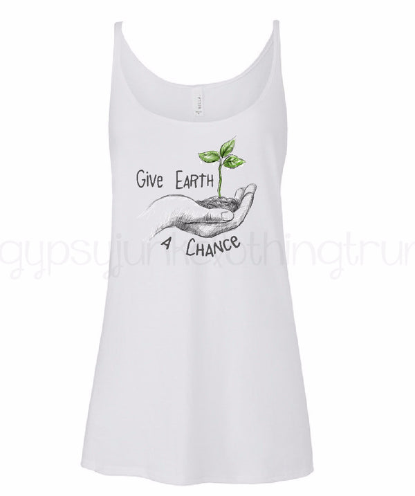 Give Earth A Chance - Earth Day Shirt - World Movement - Rebels and Roses Boutique