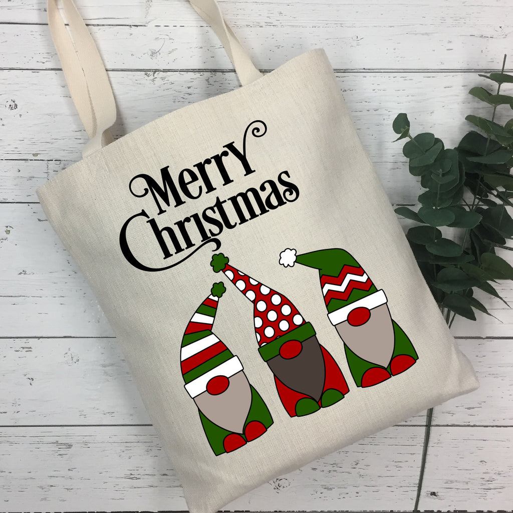 Christmas Gnome Tote Bag - Christmas Tote Bag - Rebels and Roses Boutique