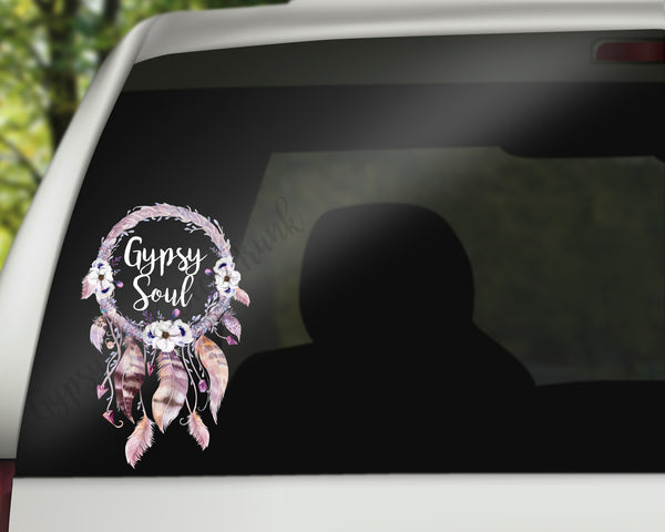 Gypsy Soul Decal - Dreamcatcher Car Decals/Laptop Decals - Rebels and Roses Boutique