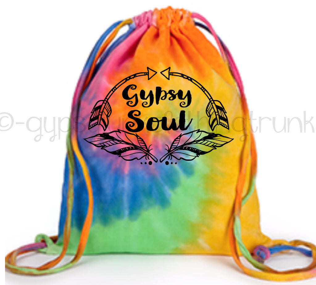 Gypsy Soul Tie Dye Tote Bag - Boho Tote Bag - Eternity - Rebels and Roses Boutique