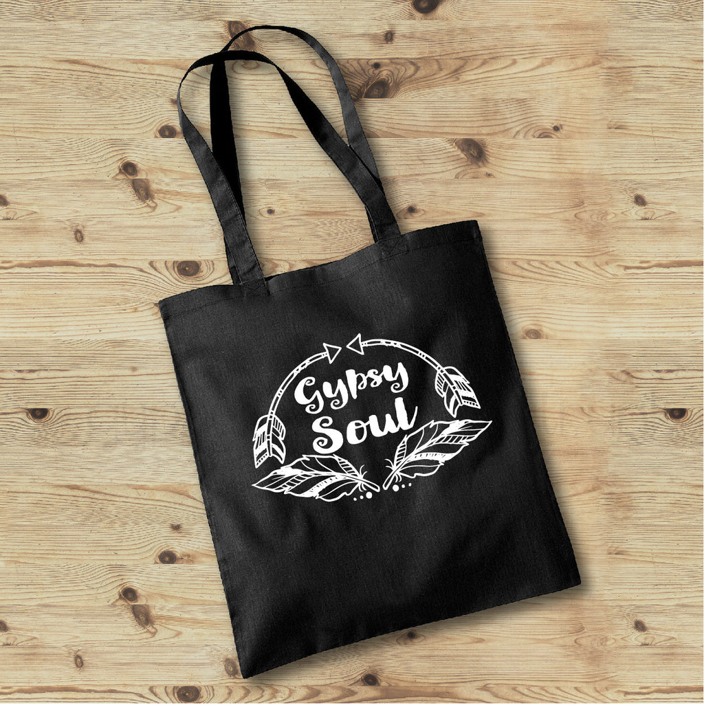 Gypsy Soul Tote Bag - Personalized Boho Tote Bag - Gypsy Junk Clothing Trunk
