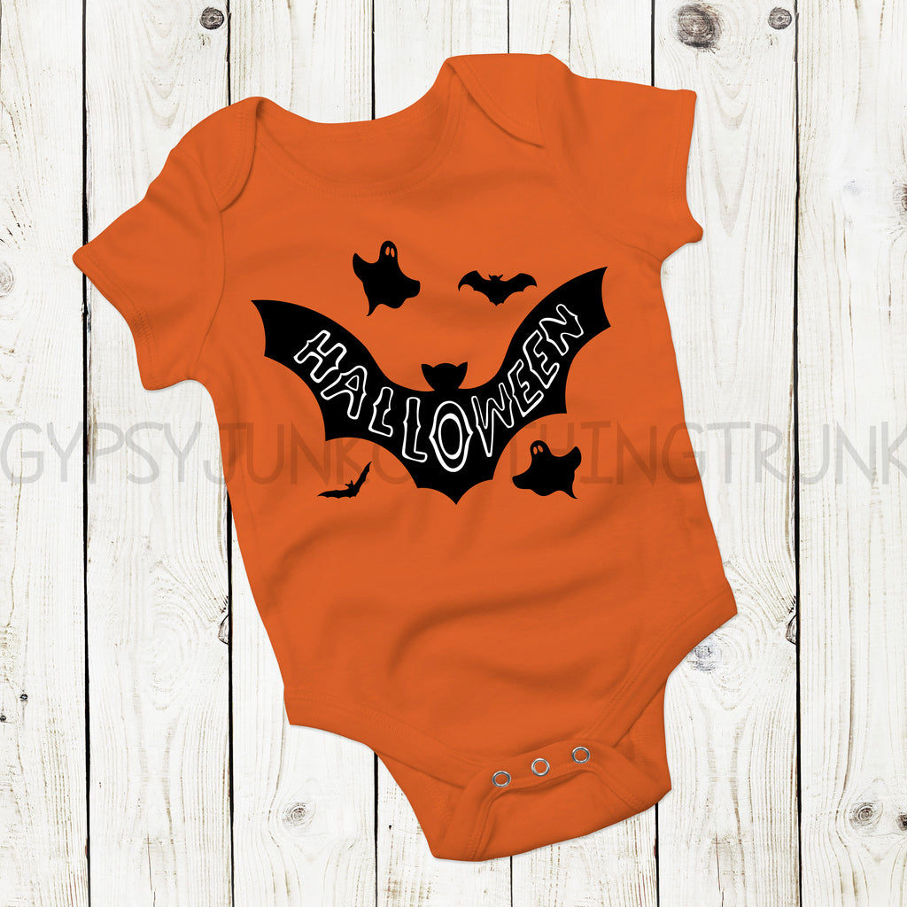 Halloween Bat Top - Halloween Baby Clothes - Rebels and Roses Boutique