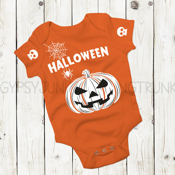 Pumpkin Baby Outfit - Halloween Baby Clothes - Rebels and Roses Boutique