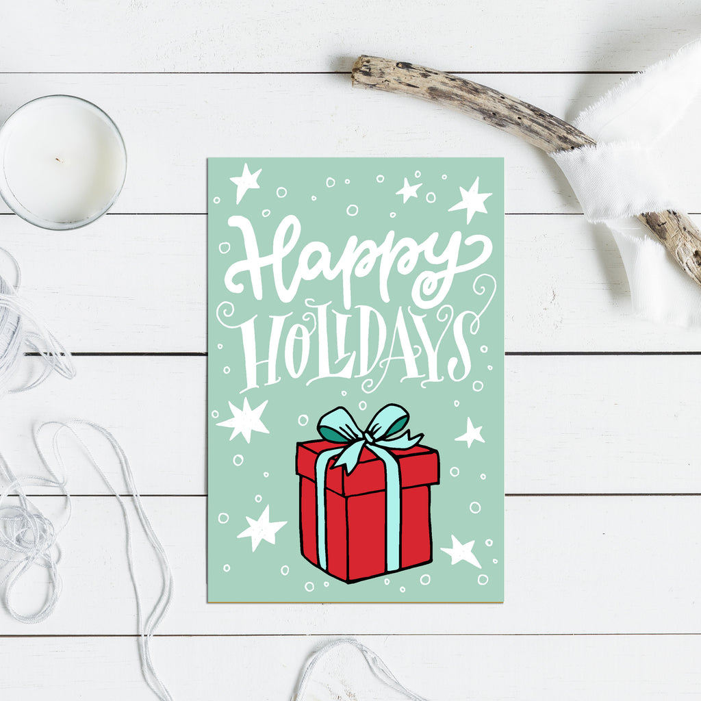 Happy Holidays Christmas Greetings - Christmas Card - Rebels and Roses Boutique