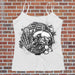 Clockwork Skull Tank Top - Women's Biker Tank - Skull Tee for Her - Rebels and Roses Boutique