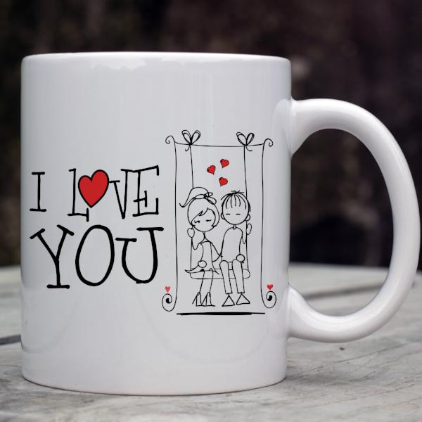 I Love You Valentines Coffee Mug
