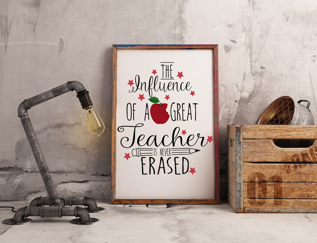 Teacher Appreciation Wall Art - Gifts for Teachers - Rebels and Roses Boutique