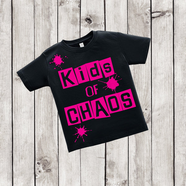 Kids of Chaos - Pink and Black Urban Shirt