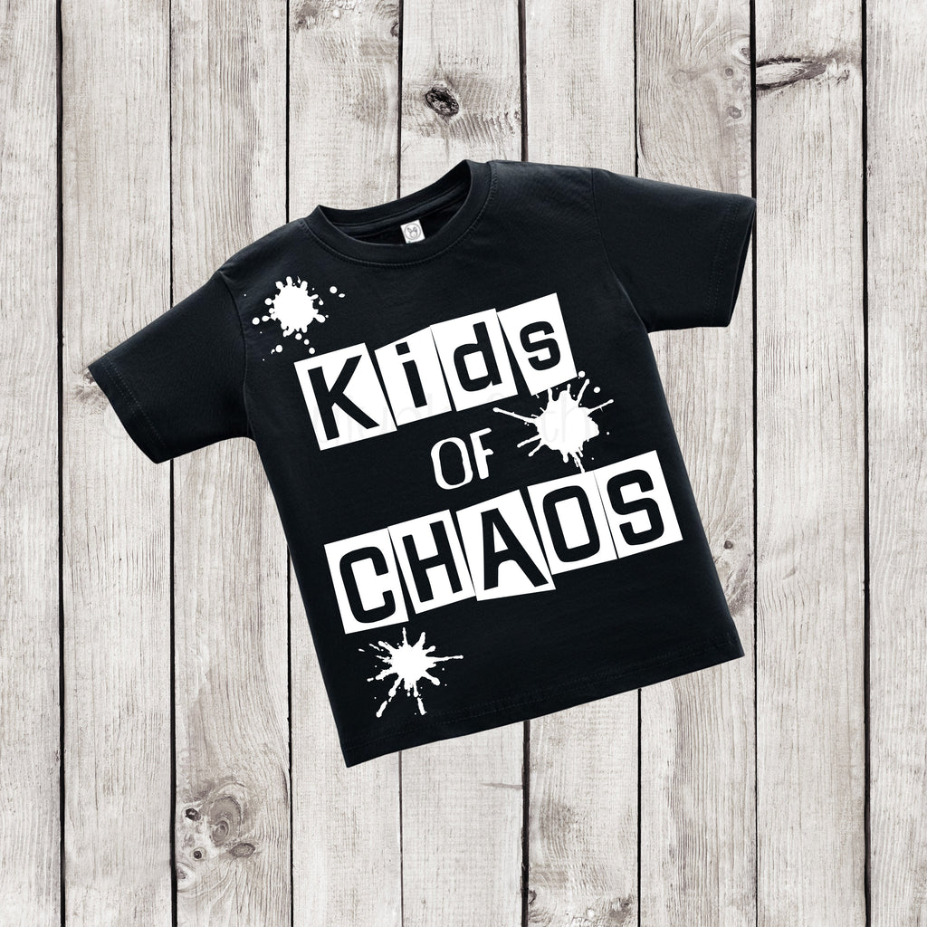 Kids of Chaos - Urban Kids Streetwear - Black and White Shirt - Rebels and Roses Boutique