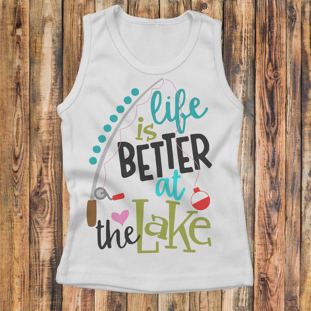 Life Is Better At The Lake - Kids Tank Top - Lake Life Shirt - Rebels and Roses Boutique