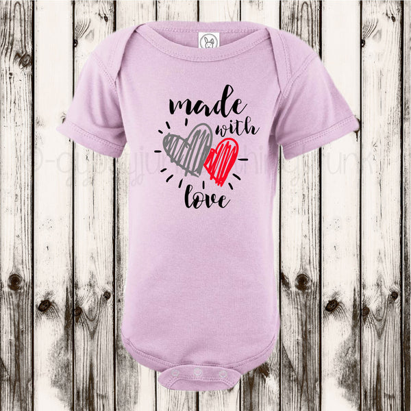 Made With Love, New Baby Outfit, Birthday Baby Top