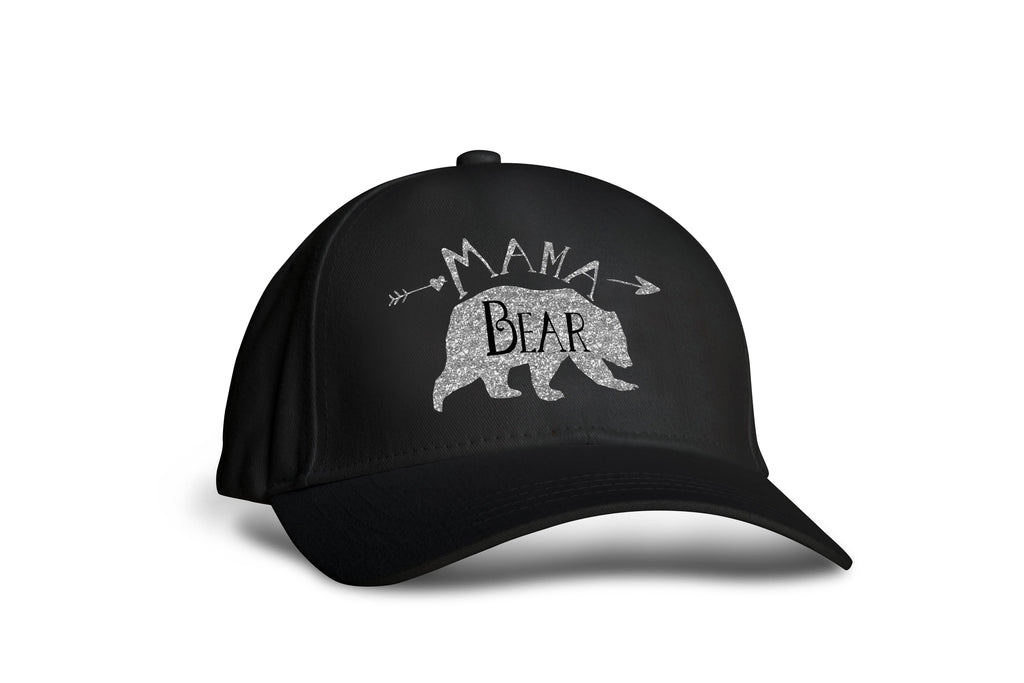 Mama Bear Trucker Cap - Rose Gold and Black - Hats for Women - Rebels and Roses Boutique