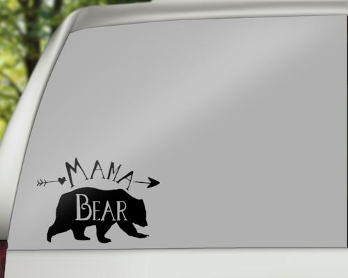 Mama Bear Car Decals/Laptop Decals - Rebels and Roses Boutique