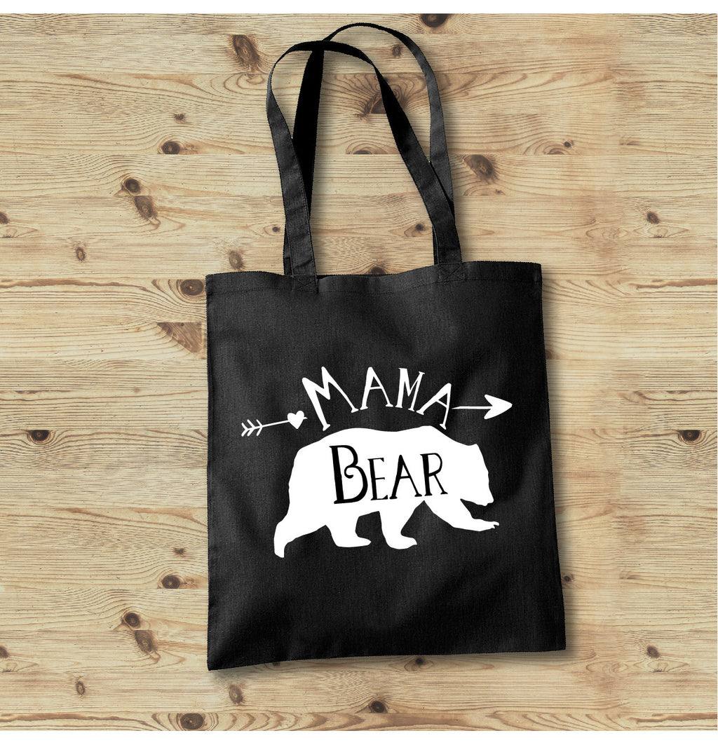 Mama Bear Tote Bag - Mom Life Tote Bag