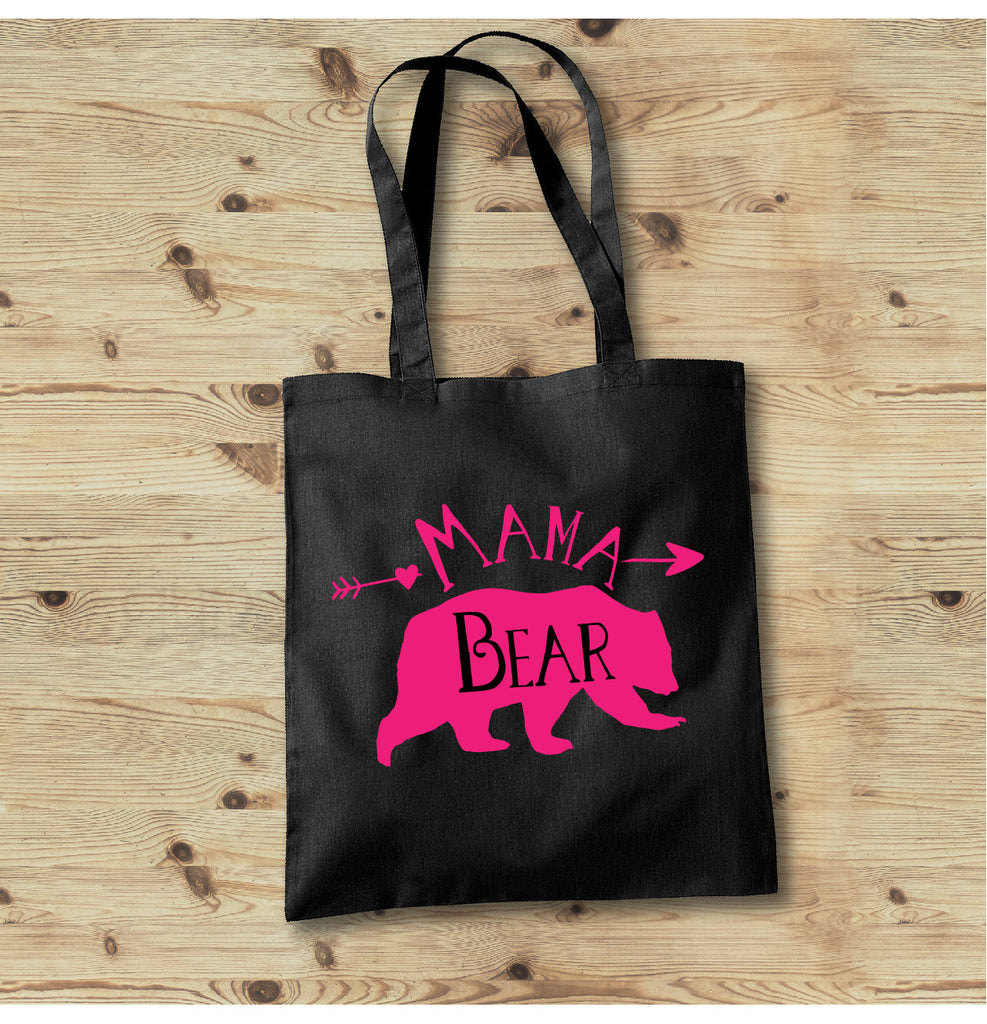 Mama Bear Tote Bag, Mom Life Tote Bag, Tote Bags for Moms - Rebels and Roses Boutique