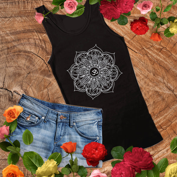 Mandala Shirt - Yoga Shirt - Boho Tank Top - Gypsy Junk Clothing Trunk