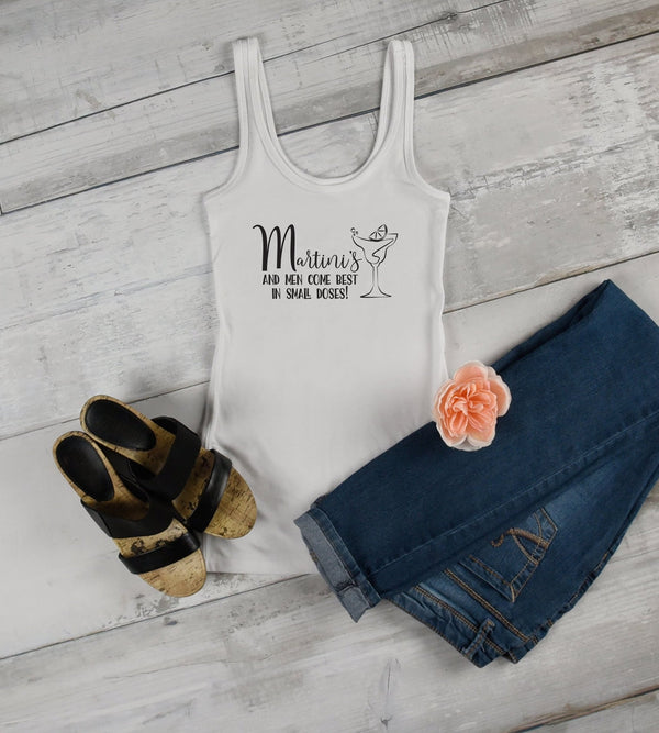 Martini's And Men - Funny Drinking Tee for Her - Gypsy Junk Clothing Trunk