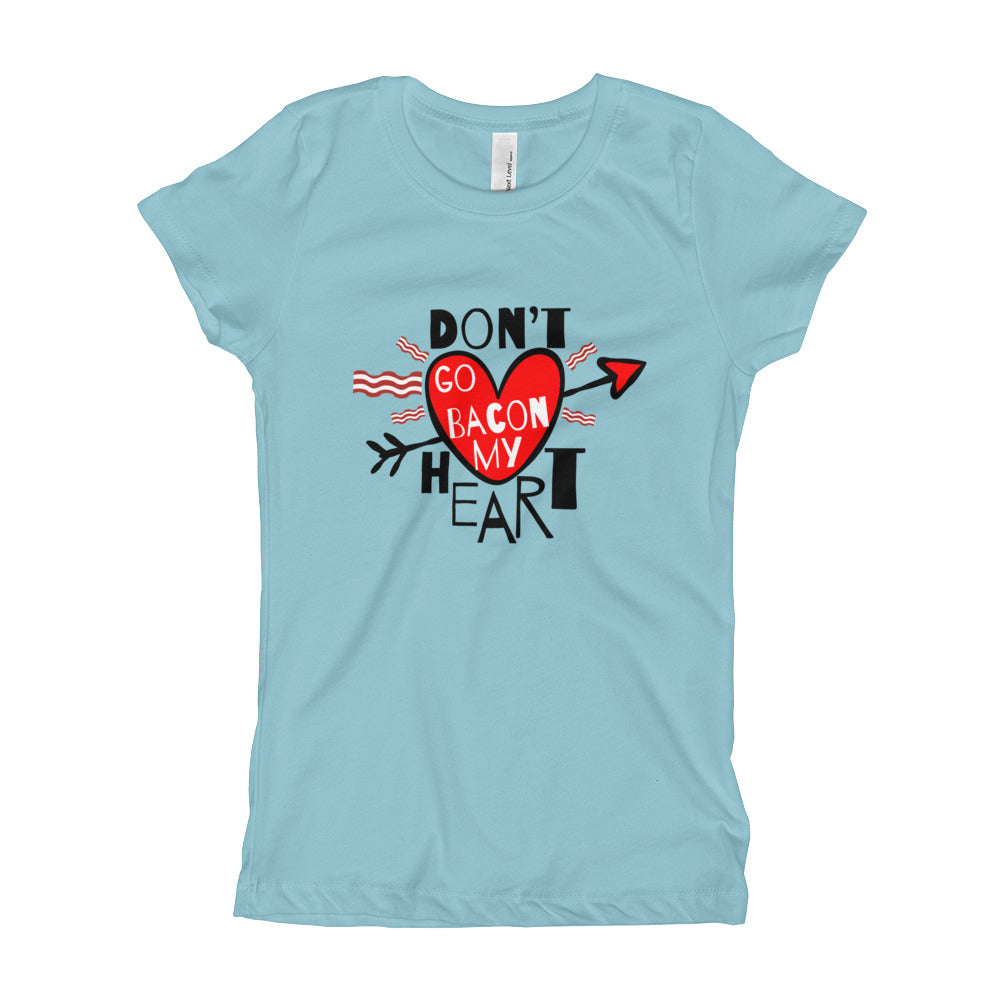 Don't Go Bacon My Heart - Valentine's Day Tee for Kids - Rebels and Roses Boutique