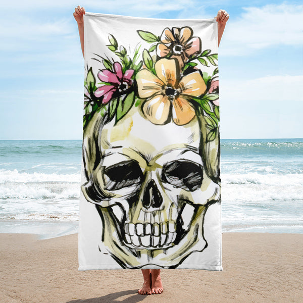 Skull Print Beach Towel - Gypsy Junk Clothing Trunk