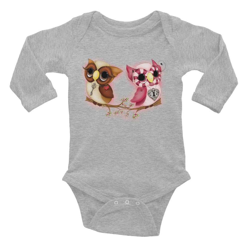 Owl Printed Valentine's Day Baby Outfits - Rebels and Roses Boutique