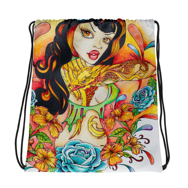Rockabilly Tattoo Art Tote Bag - Rebels and Roses Boutique