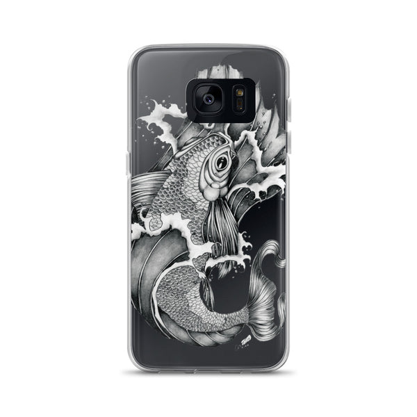 Koi Fish Tattoo Art - Samsung Phone Case - Rebels and Roses Boutique