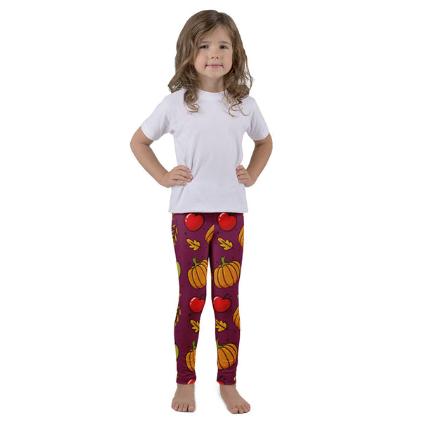 Fall Pumpkin Leggings for Kids - Rebels and Roses Boutique