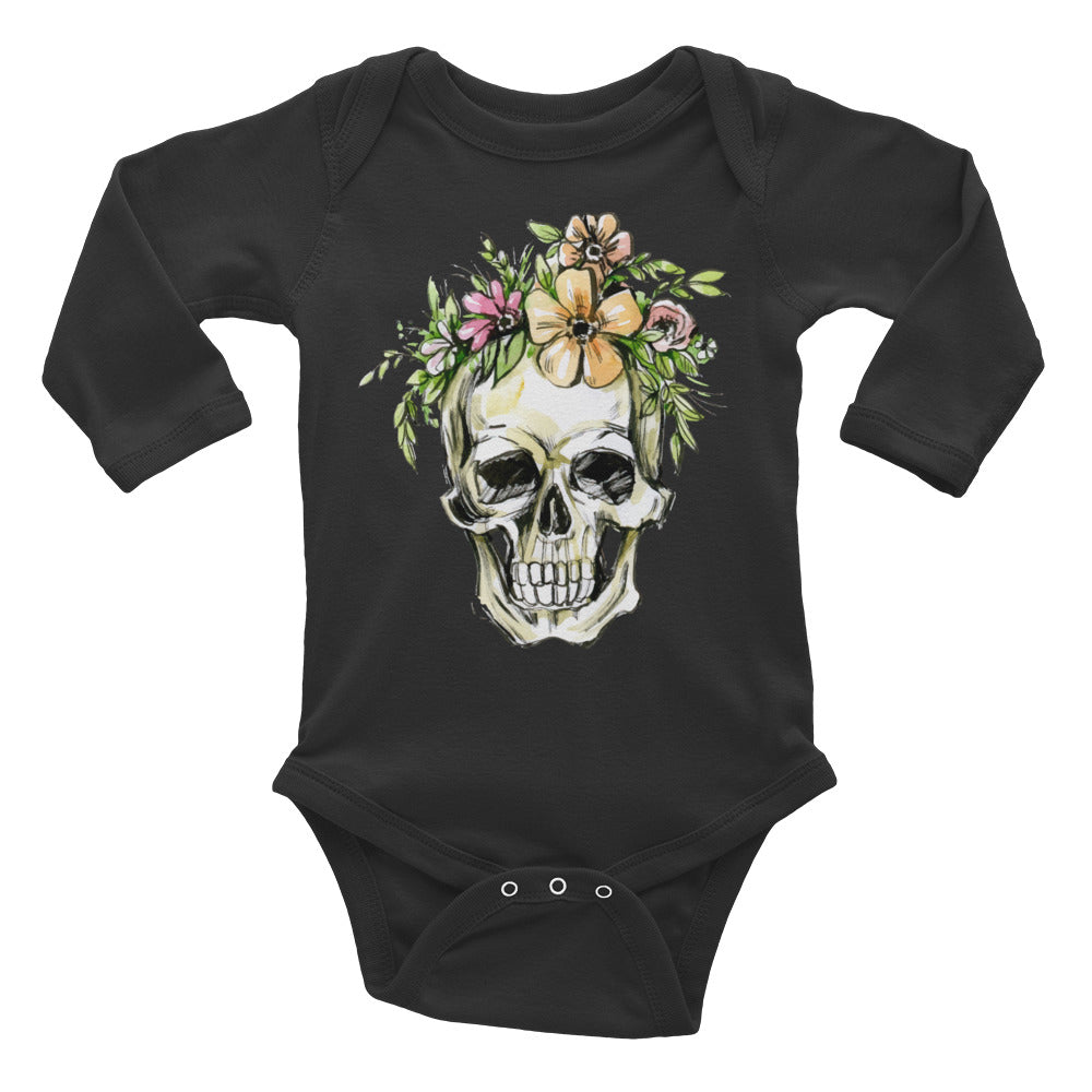 Skull Long Sleeve Bodysuit - Rebels and Roses Boutique