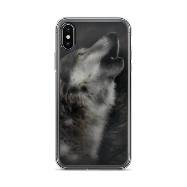 Howling Wolf iPhone Case - Rebels and Roses Boutique