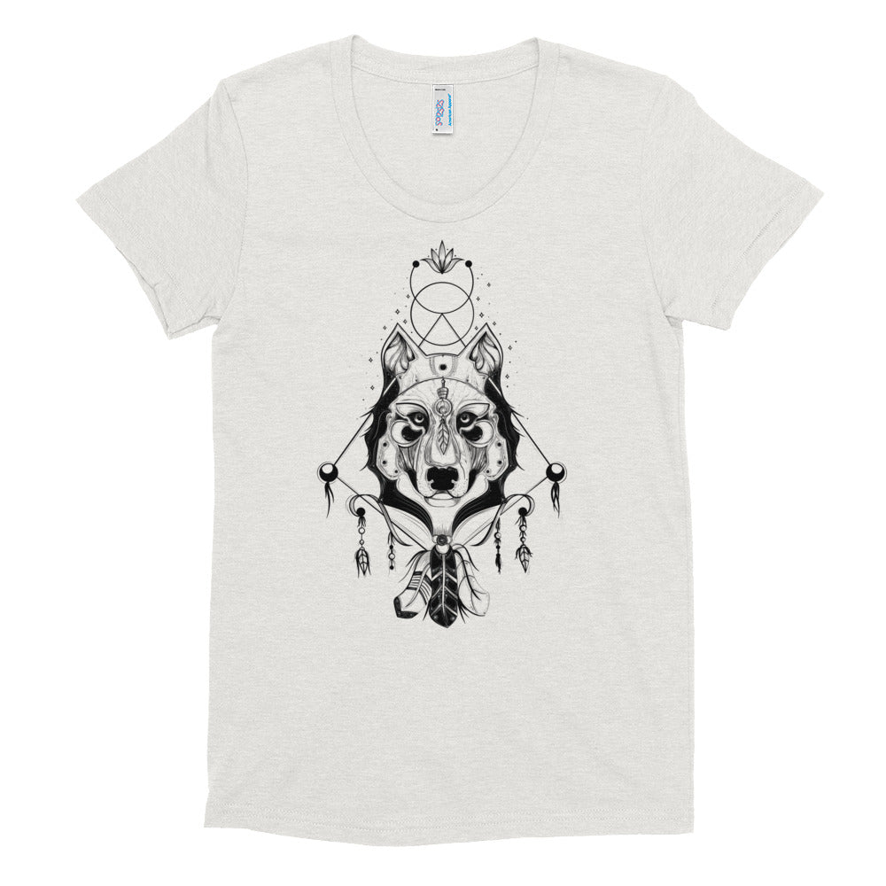 Ethereal Wolf Warrior Crew Neck T-shirt - Rebels and Roses Boutique
