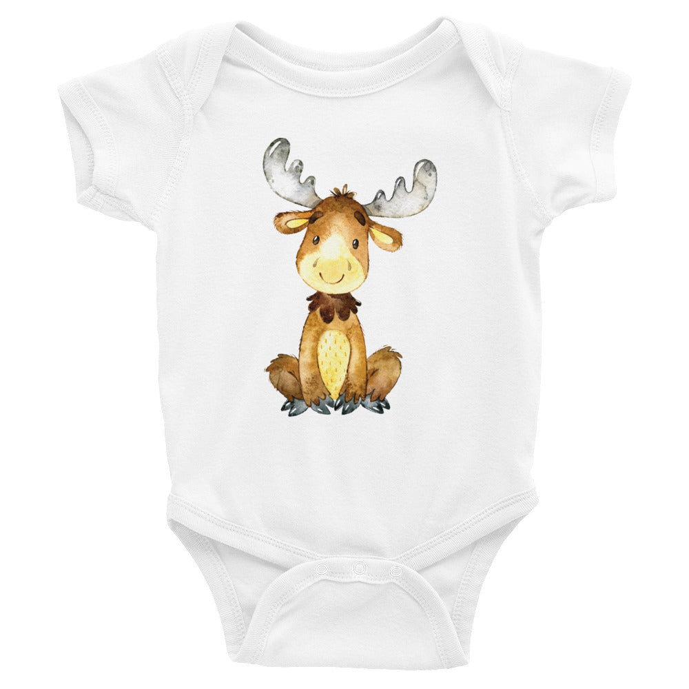 Happy Moose Baby Shirt - Moose Shirt - Rebels and Roses Boutique