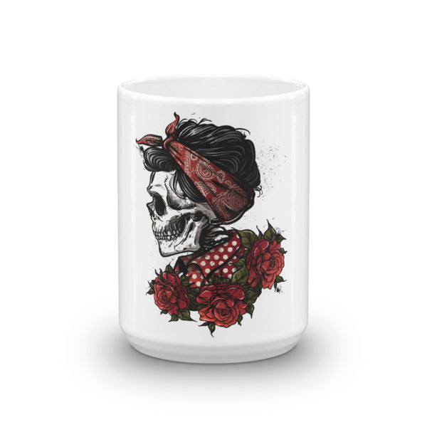 Rockabilly Skull Coffee Mug