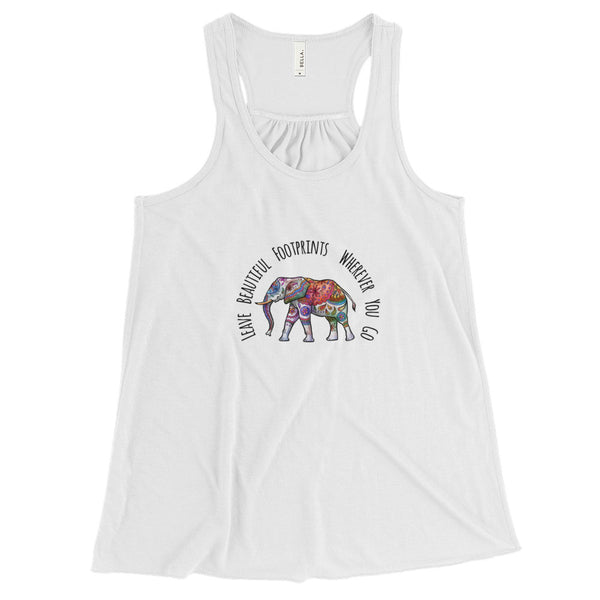 Ethereal Elephant - Flowy Racerback Tank - Rebels and Roses Boutique
