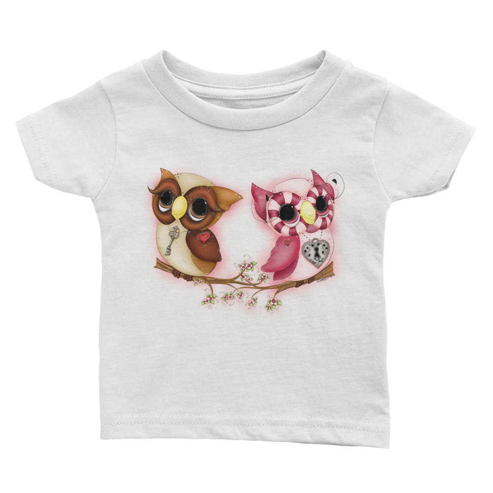 Owl Printed Top - Valentine's Day Baby Outfits - Rebels and Roses Boutique