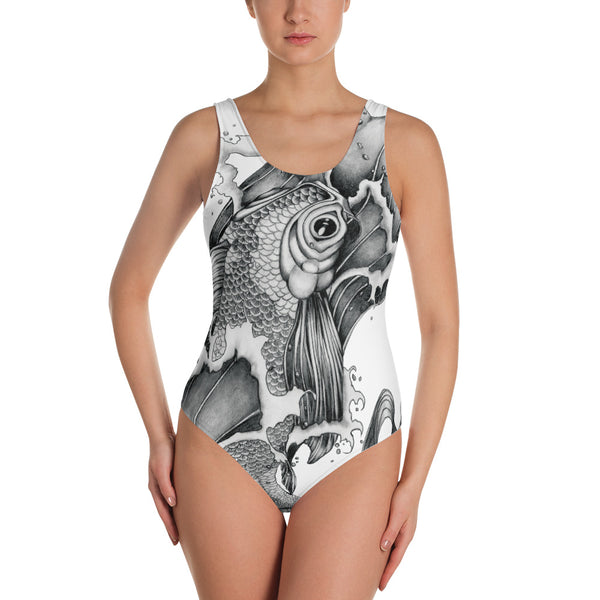 Koi Tattoo Art Women's Swimsuit - Gypsy Junk Clothing Trunk