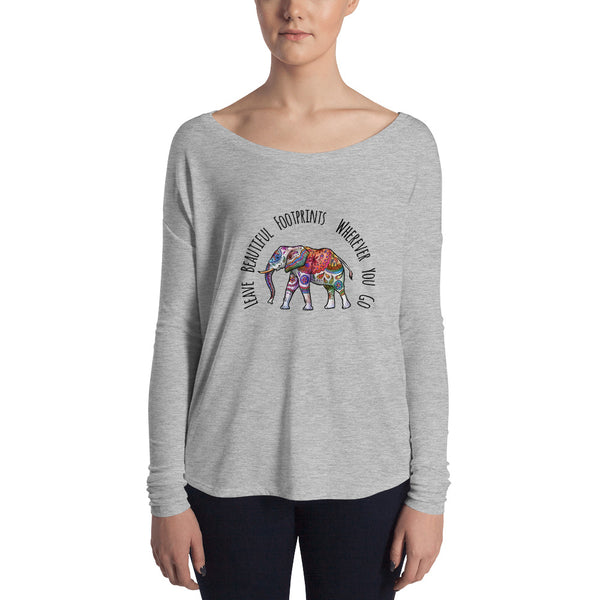 Ethereal Elephant Slouchy Long Sleeve Tee - Rebels and Roses Boutique