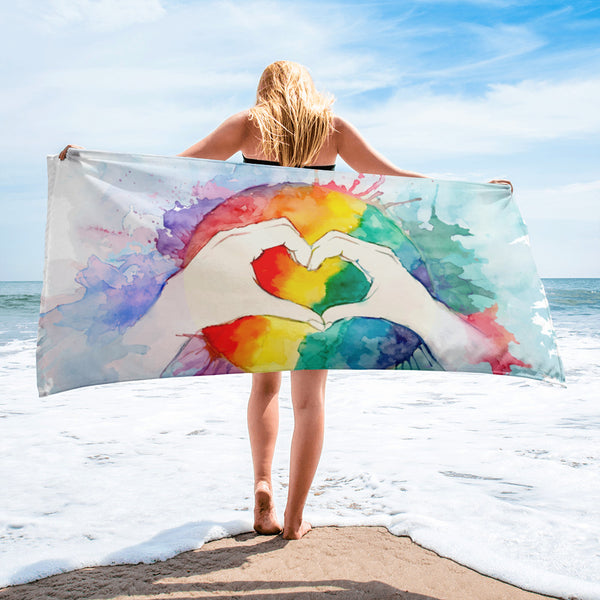 Rainbow Pride Beach Towel - Rebels and Roses Boutique