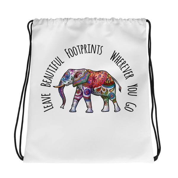 Ethereal Elephant Print Tote - Leave Beautiful Footprints Wherever You Go - Rebels and Roses Boutique