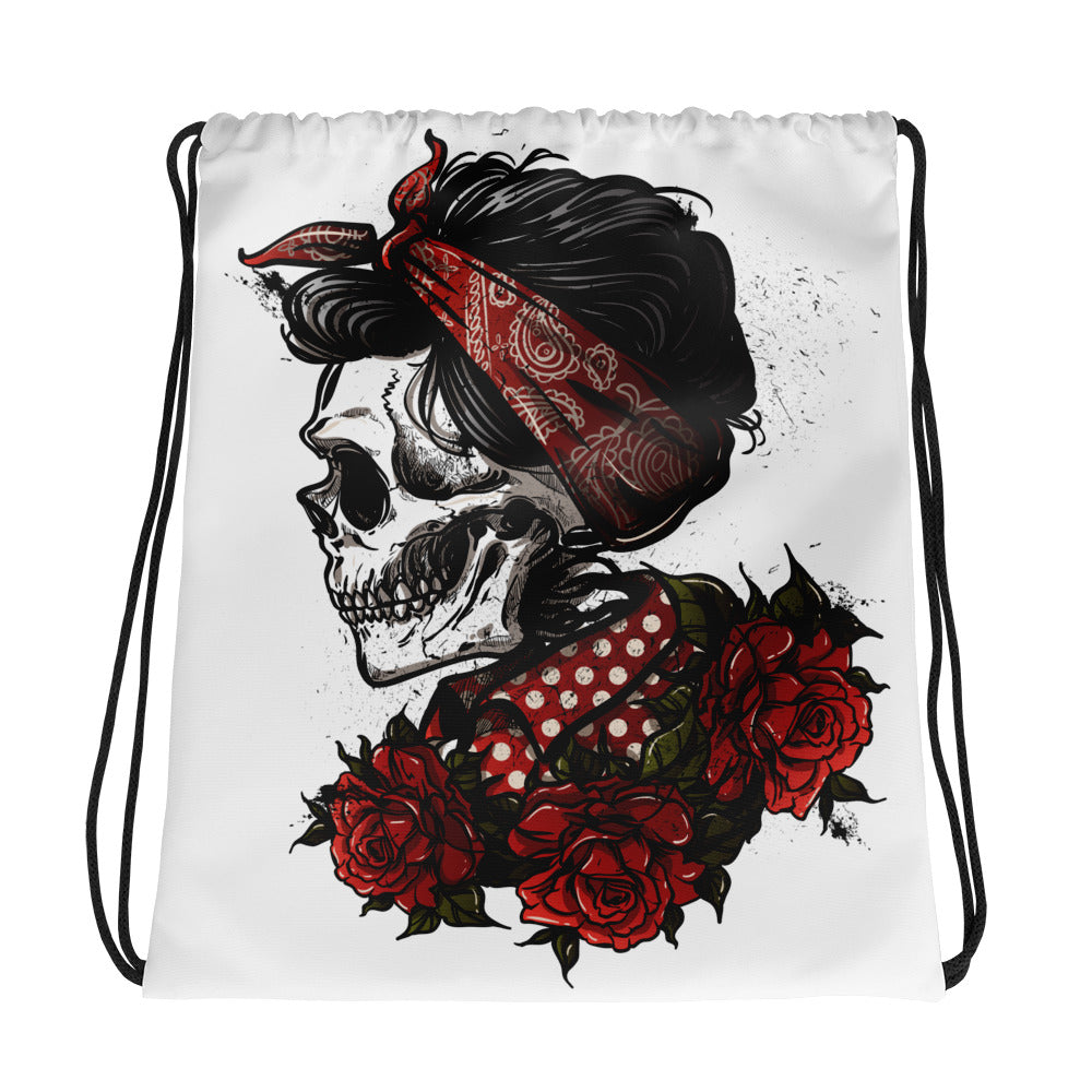 Rockabilly Skull Tote Bag