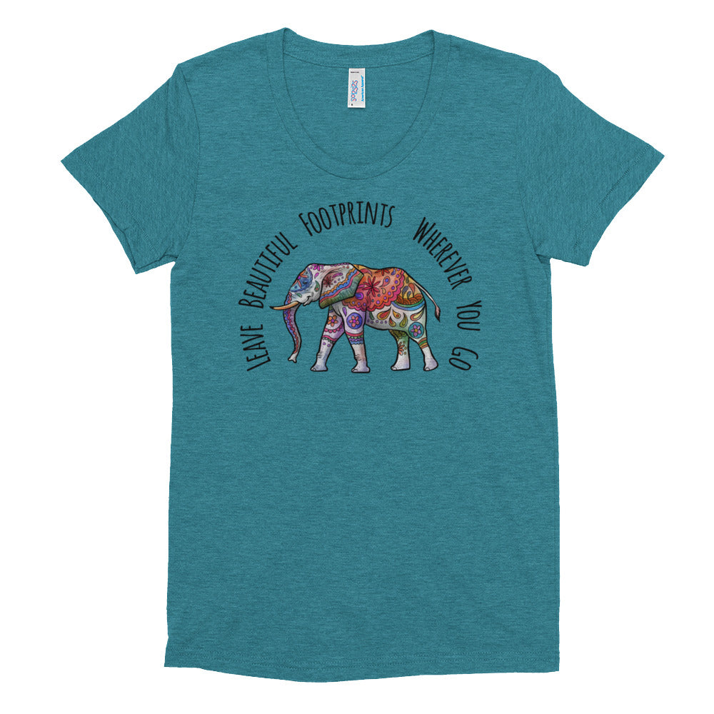 Ethereal Elephant Crew Neck T-shirt - Rebels and Roses Boutique