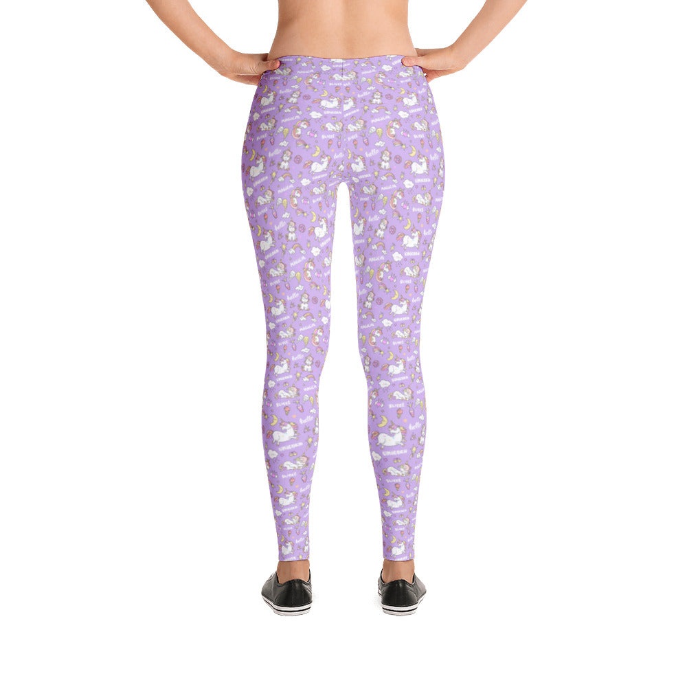 Purple Unicorn Leggings for Women - Rebels and Roses Boutique