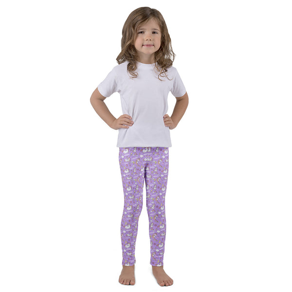 Purple Unicorn Leggings for Kids - Rebels and Roses Boutique